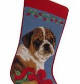 Christmas Stocking Bulldog