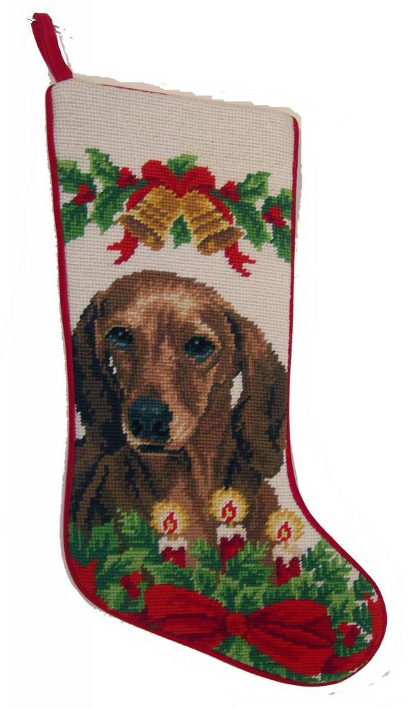 Christmas Stocking Dachshund RED