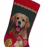 Christmas Stocking Golden Retreiver