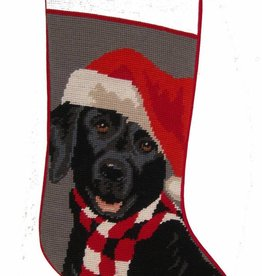 Christmas Stocking Labrador Retriever Black