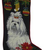 Christmas Stocking Maltese