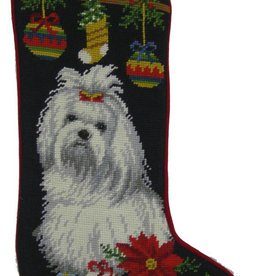 Christmas Stocking Maltese