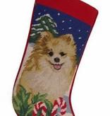 Christmas Stocking Pomeranian