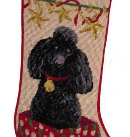 Christmas Stocking Poodle Black