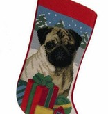 Christmas Stocking Pug Fawn