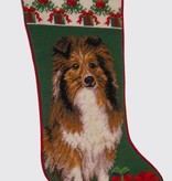 Christmas Stocking Shetland Sheepdog