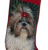 Christmas Stocking Shih Tzu