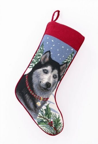 Christmas Stocking Siberian Husky