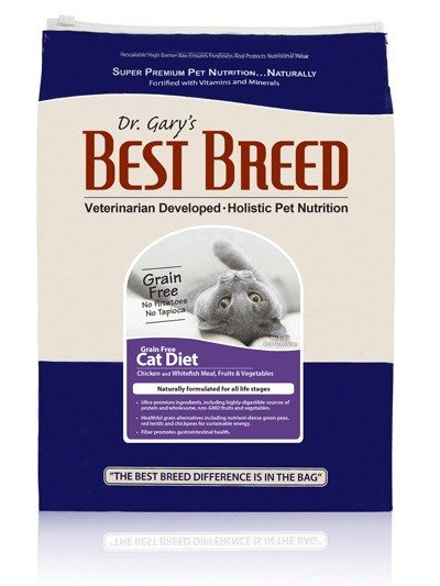 Dr. Gary's Best Breed CAT Grain Free Chicken/Whitefish/Egg  15lb