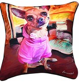 Chihuahua in Pink Pillow