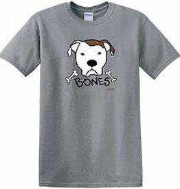Doggishwear Bones Pitbull Tee Shirt