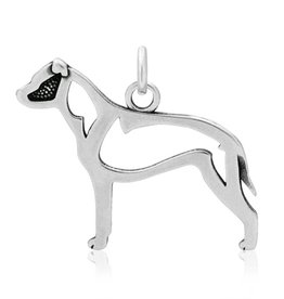 Sterling Silver Am Staff (PitBull) Body Pendant