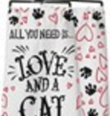 Dish Towel - Love And a Cat