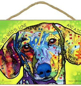 Russo Sign-Dachshund - All you need is love and a dog