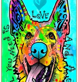 Russo Sign-German Shepherd - All you need is love and a dog