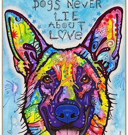 Russo Sign-German Shepherd - Dogs never lie about love