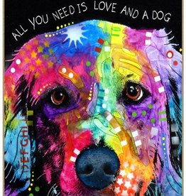 Russo Sign-Golden Retriever - All you need is love and a dog