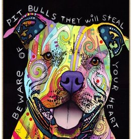 Russo Sign-Pitbull - Beware of Pitbulls they will steal your heart