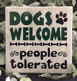 Ceramic Tile - Dogs welcome. People tolerated