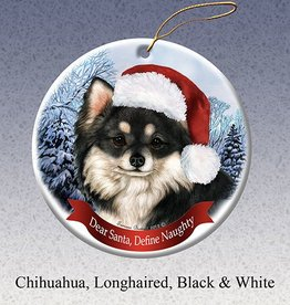 Pet Gifts Round Ornament Chihuahua Long Hair