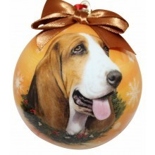 Ball Ornament - Basset Hound