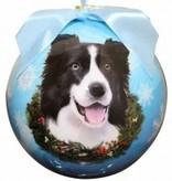 Ball Ornament - Border Collie