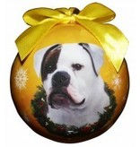 Ball Ornament - American Bulldog