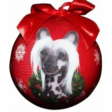 Ball Ornament - Chinese Crested