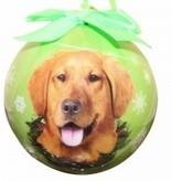 Ball Ornament - Golden Retriever