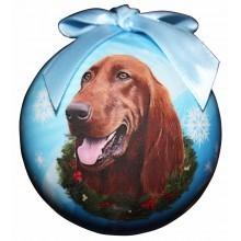 Ball Ornament - Irish Setter