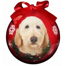 Ball Ornament - Labradoodle (Yellow)