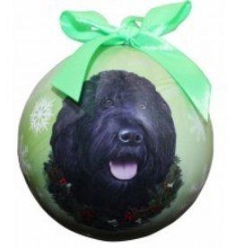 Ball Ornament - Labradoodle (Black)