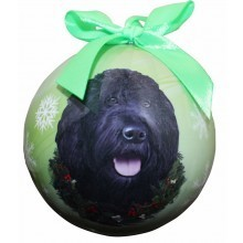 Ball Ornament - Labradoodle (Black)