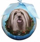 Ball Ornament - Lhasa Apso