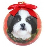 Ball Ornament - Shih-Tzu (Black & White)