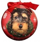 Ball Ornament - Yorkie (Puppy Cut)