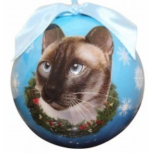 Ball Ornament - Siamese Cat