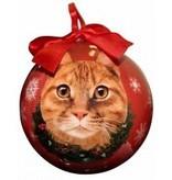 Ball Ornament - Orange Tabby