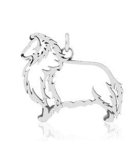 Sterling Silver Shetland Sheepdog Pendant