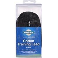 COTTON TRAINING LEAD 5/8X20' BLACK