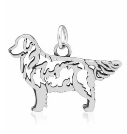 Sterling Silver Golden Retriever Pendant, Body