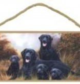 Black Lab Family Sign