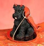 Devil Ornament Schnauzer-Black UnCr