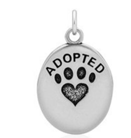 Sterling Silver ADOPTED Pendant