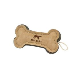"""Tall Tails  6"""" NATURAL LEATHER BONE TOY"""