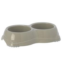 Medium Double Diner - 2x1.5 cup, Gray Plastic