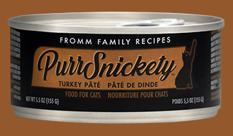 FROMM 5.5 OZ CAT PURRSNICKETY TURKEY PATE CAN