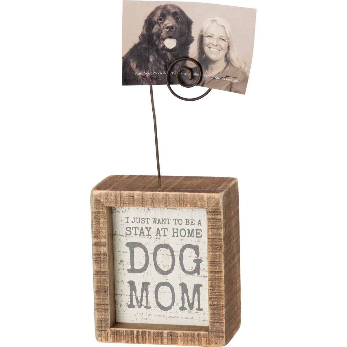 Inset Photo Block - Be A Stay At Home Dog Mom