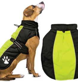 S - FASHION PET Sporty Jacket Black/Green