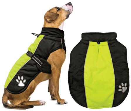 L - FASHION PET Sporty Jacket Black/Green